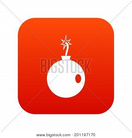 Cannonball icon digital red for any design isolated on white vector illustration