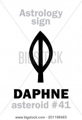 Astrology Alphabet: DAPHNE, asteroid #41. Hieroglyphics character sign (single symbol).