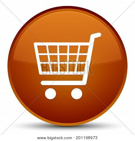 Ecommerce Icon Special Brown Round Button
