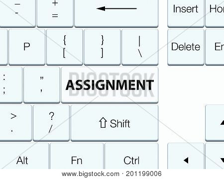 Assignment White Keyboard Button