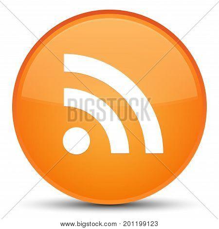 Rss Icon Special Orange Round Button
