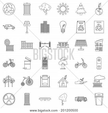 Bicycle icons set. Outline style of 36 bicycle vector icons for web isolated on white background