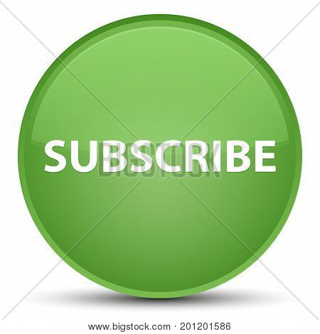 Subscribe Special Soft Green Round Button