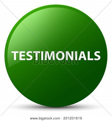 Testimonials Green Round Button