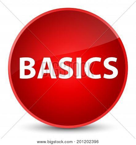 Basics Elegant Red Round Button
