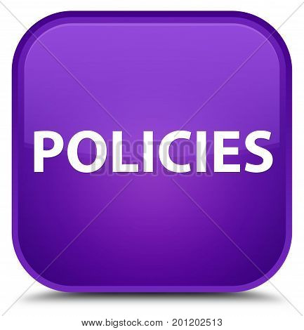 Policies Special Purple Square Button