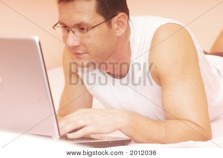 Man With His Laptop
