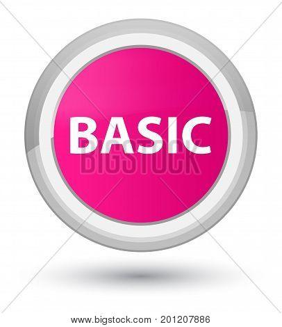 Basic Prime Pink Round Button