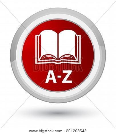 A-z (book Icon) Prime Red Round Button