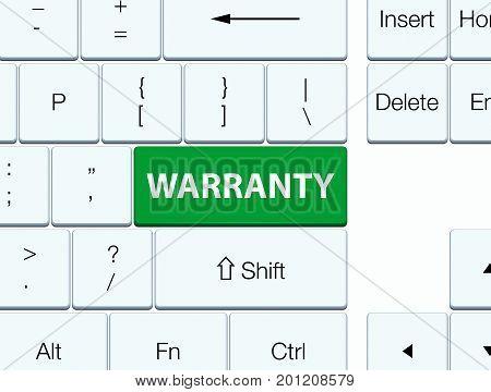 Warranty Green Keyboard Button