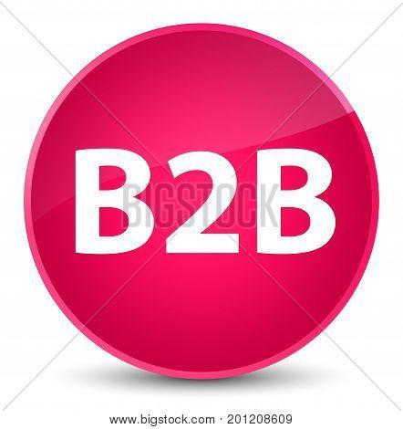 B2B Elegant Pink Round Button