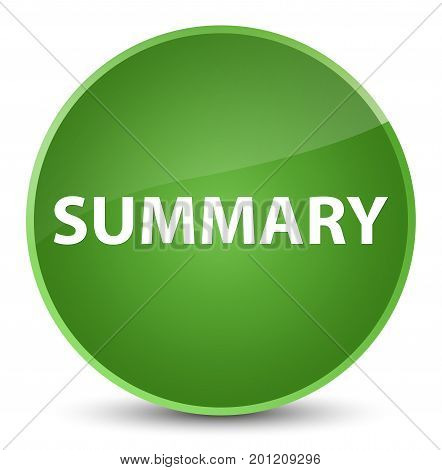 Summary Elegant Soft Green Round Button