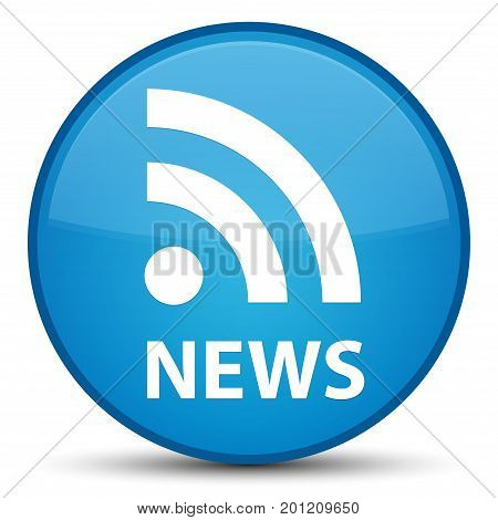 News (rss Icon) Special Cyan Blue Round Button