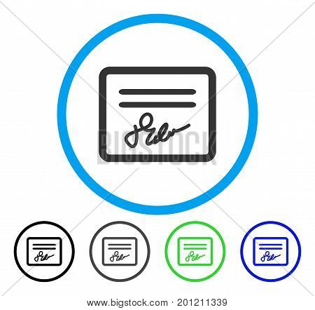 Mail Attachment rounded icon. Vector illustration style is a flat iconic symbol inside a circle, black, gray, blue, green versions. Designed for web and software interfaces.
