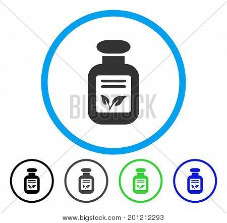 Natural Drugs rounded icon. Vector illustration style is a flat iconic symbol inside a circle, black, gray, blue, green versions. Designed for web and software interfaces.