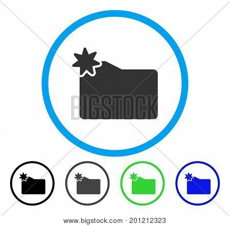 New Folder rounded icon. Vector illustration style is a flat iconic symbol inside a circle, black, grey, blue, green versions. Designed for web and software interfaces.