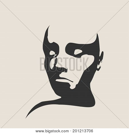 Human emotions expression vector illustration. Isolated avatar of the expressions face. Sleeping woman. Soul meditation