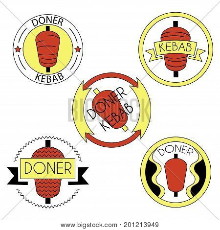 Doner Kebab Badge Set