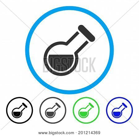 Retort rounded icon. Vector illustration style is a flat iconic symbol inside a circle, black, gray, blue, green versions. Designed for web and software interfaces.