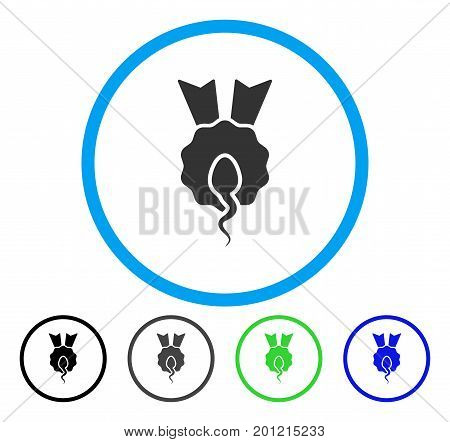 Sperm Winner rounded icon. Vector illustration style is a flat iconic symbol inside a circle, black, gray, blue, green versions. Designed for web and software interfaces.
