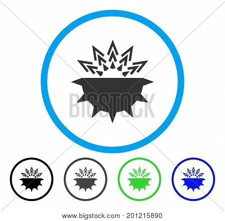 Viral Structure rounded icon. Vector illustration style is a flat iconic symbol inside a circle, black, gray, blue, green versions. Designed for web and software interfaces.