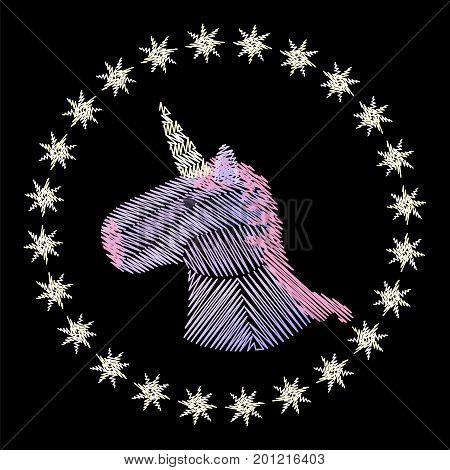 Unicorn Head Embroidery