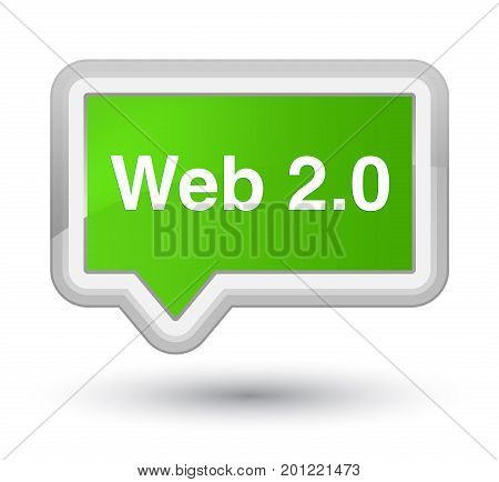 Web 2.0 Prime Soft Green Banner Button