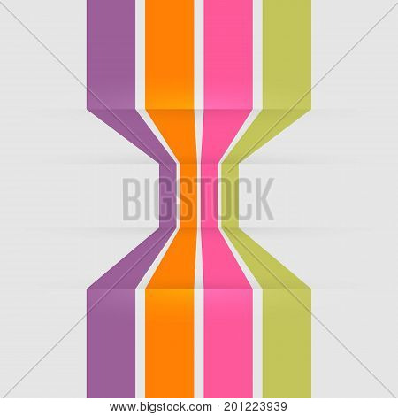 Template banners with colorful line, stock vector