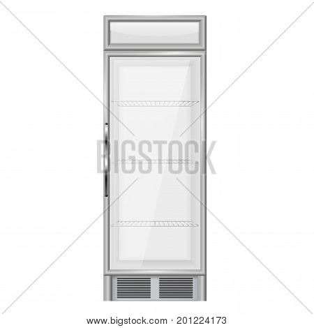 Display refrigerator, merchandiser. Vector illustration isolated on white background