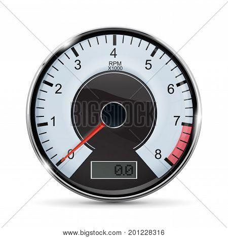 Tachometer. Vector illustration isolated on white background