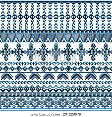 Ethnic seamless pattern with triangle and abstract geometric ornament. Hande drawn tribal background texture. Native american navajo aztec pattern. Vector illustration hipster background.