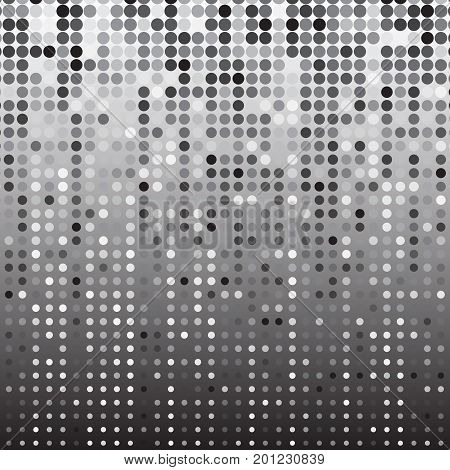 Silver dot halftone abstract background stock vector