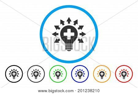 Disinfection Lamp rounded icon. Vector illustration style is a flat iconic symbol inside a circle, with black, gray, green, blue, orange, red color versions. Designed for web and software interfaces.