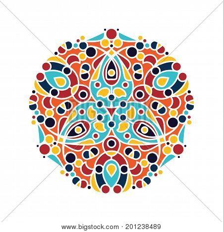 Islamic floral pattern. Vector geometric ornament mandala in arabic style