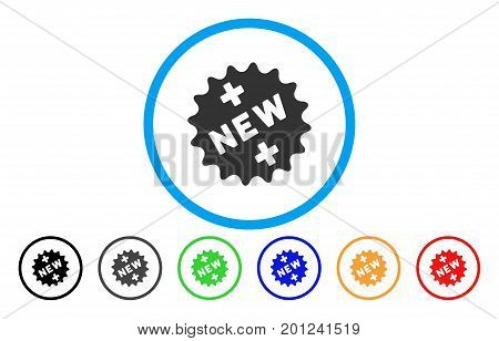 New Medical Sticker rounded icon. Vector illustration style is a flat iconic symbol inside a circle, with black, gray, green, blue, orange, red color versions.