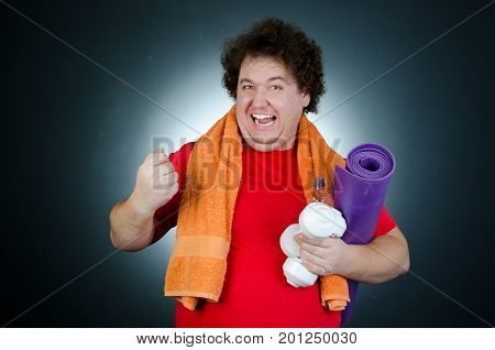 Funny fitness and fun guy. Body care and a healthy lifestyle.