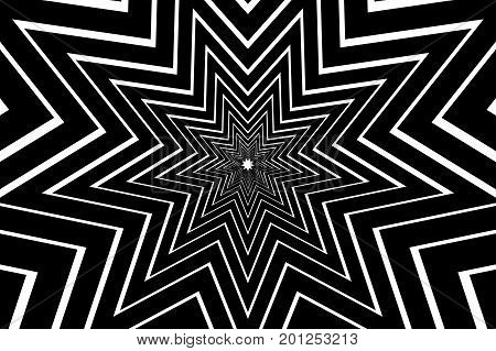 nine pointed star black abstract vector pattern