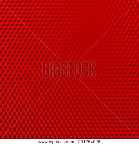 Vehicle reflective red abstract isometric shape background. Red cubes pattern