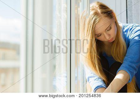 Young Teenage Sad Woman