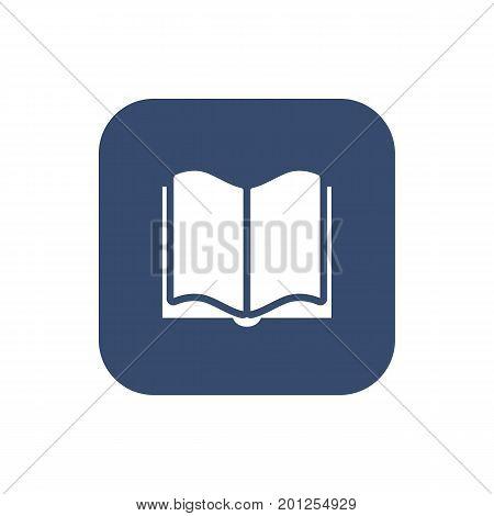 Book Icon on dark background. Flat Design Vector illustration