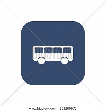 Bus Icon Flat. Vector Illustration for your design