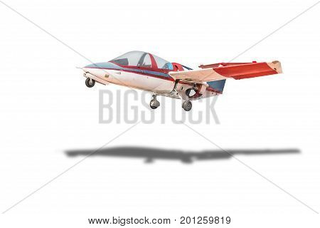 retro plane isolated on white with clipping path.