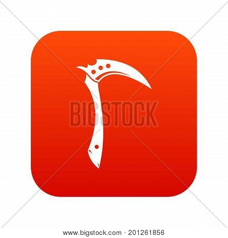 Kama weapon icon digital red for any design isolated on white vector illustration