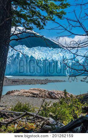 Perito Moreno glacier in a sunny day Argentina