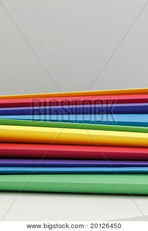 Multicolor Pile Of Folders