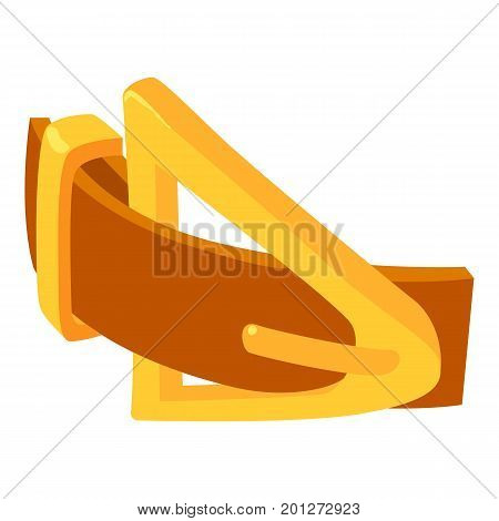 Yellow belt icon. Isometric illustration of yellow belt vector icon for web