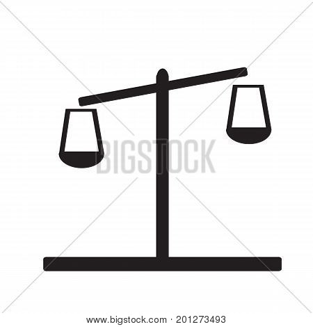 libra icon on white background. flat style design. libra sign.