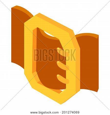 Stylish belt icon. Isometric illustration of stylish belt vector icon for web