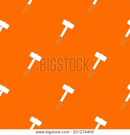 Sledgehammer pattern repeat seamless in orange color for any design. Vector geometric illustration