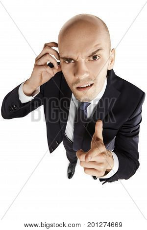 Businessman Points His Finger At You